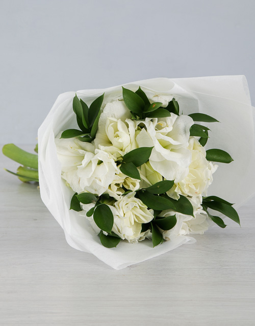 bouquets: Cut Amaryllis in White Wrapping!