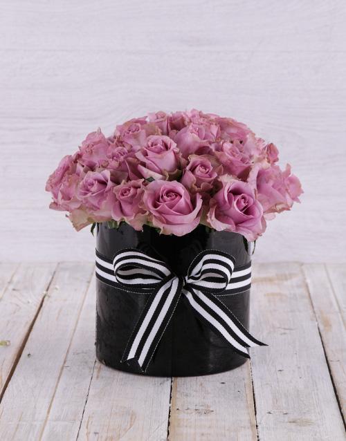 anniversary: Solid Purple Rose Arrangement!