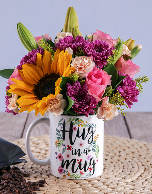 colour: Sincere Hug In A Mug Flowers!