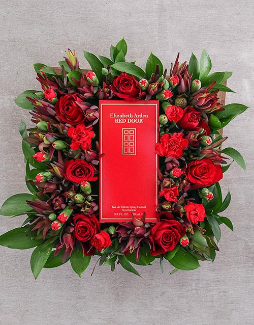 flowers: Red Door Dearest Desire!