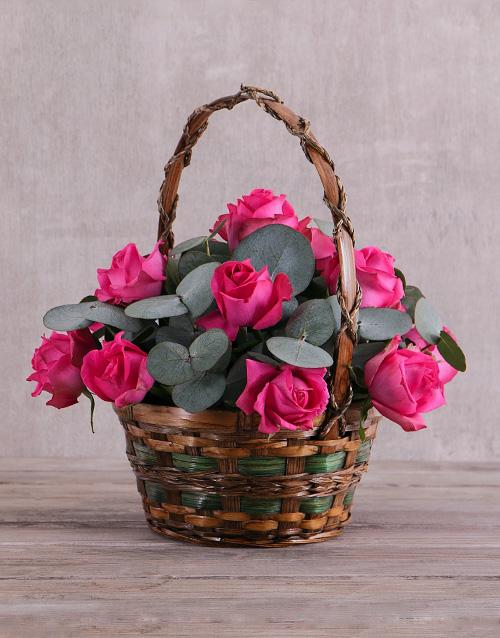 colour: Cerise Roses Love Basket!