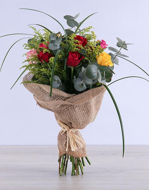 colour: Exotic Mixed Rose Bouquet!