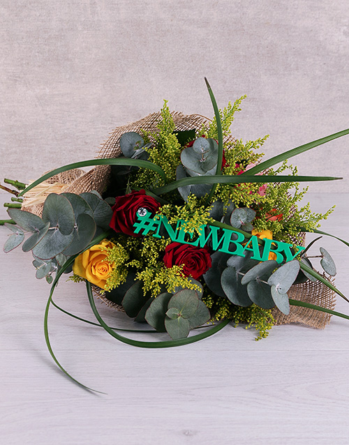 bouquets: New Baby Exotic Mixed Roses!