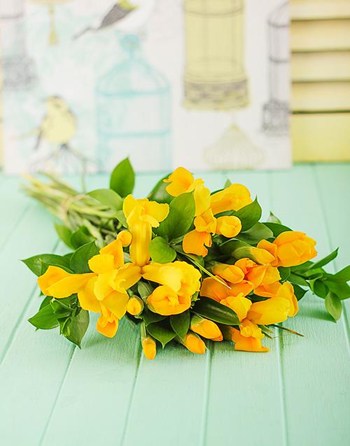 colour: Yellow Iris Bouquet!