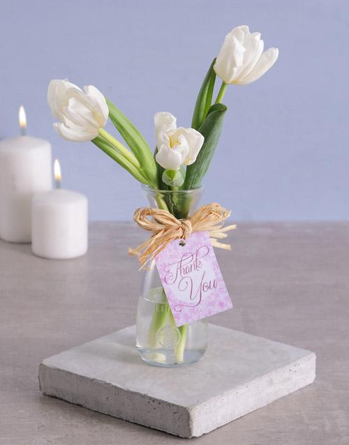 seasonal: Thank You Tulips in Vase!