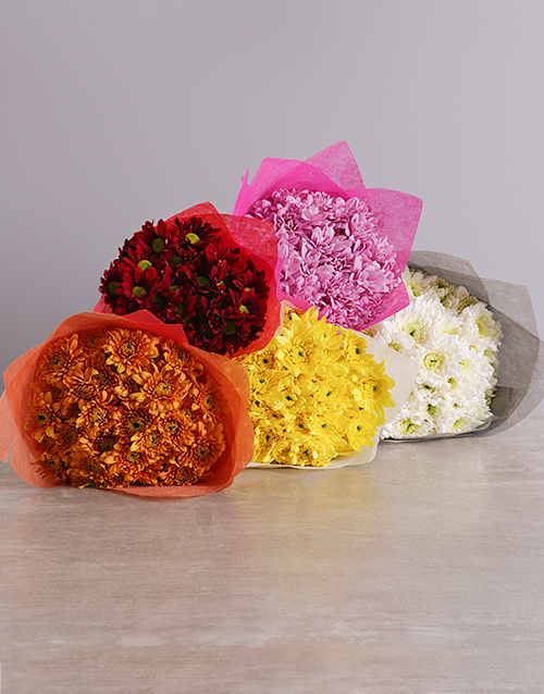 colour: Rainbow of Colours Sprays Bouquet!