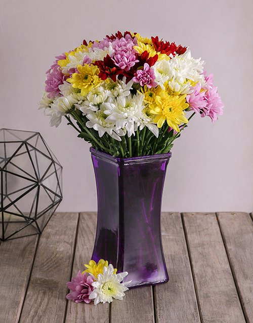 colour: Mixed Sprays in Lady Purple Vase!