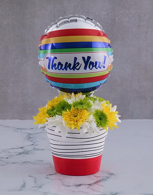 colour: Thank You Spray Arrangement In A Pot!
