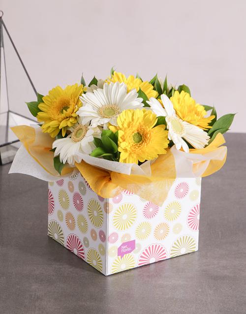 bosses-day: Sunny Box of Gerbera Daisies!