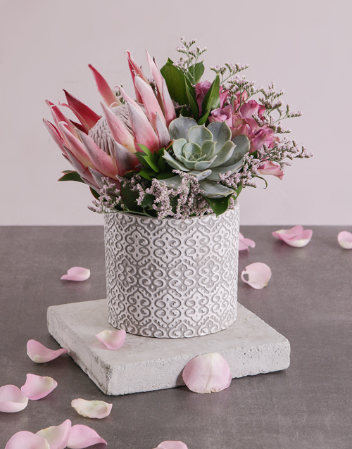 birthday: King Protea and Mixed Flowers!