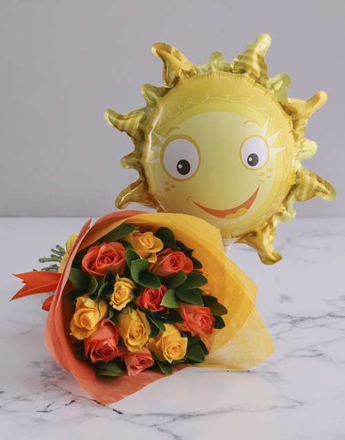 colour: Sunny Rose Bouquet and Balloon!
