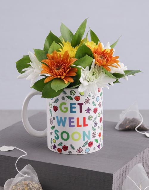 colour: Get Well Floral Spray Mug!