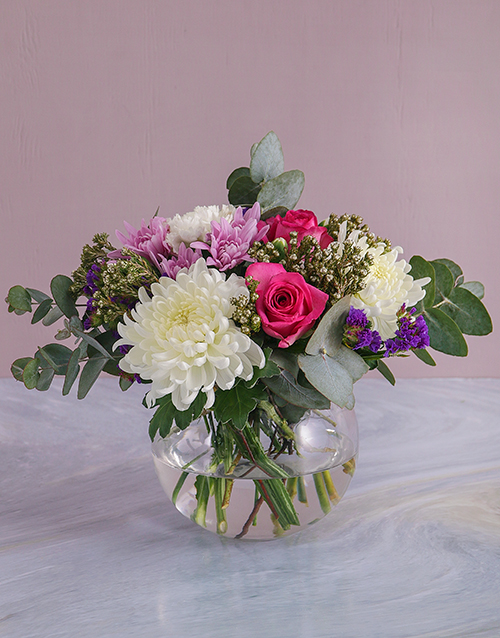 colour: Mixed Floral Delight in a Bowl!