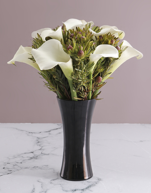 vase: White Lilies in Flair Vase!