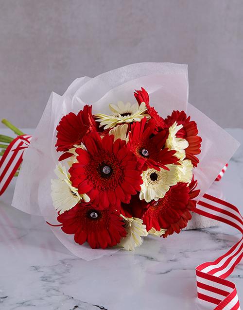 bouquets: Passion White Gerbera Array!