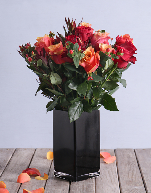 birthday: Cherry Brandy and Red Roses with Safari in a Vase!