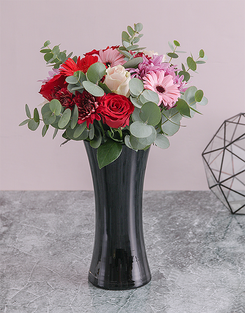 anniversary: Rose and Daisy Floral Arrangement!