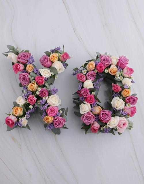 colour: X and O Mixed Rose Wreath!