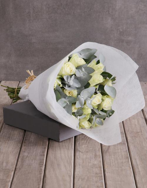 colour: Purest of White Rose Bouquet!