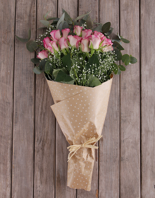 anniversary: Pink Rose and Million Star Bouquet!