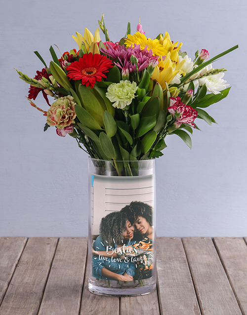 colour: Personalised Besties Cerise Roses and Lilies!