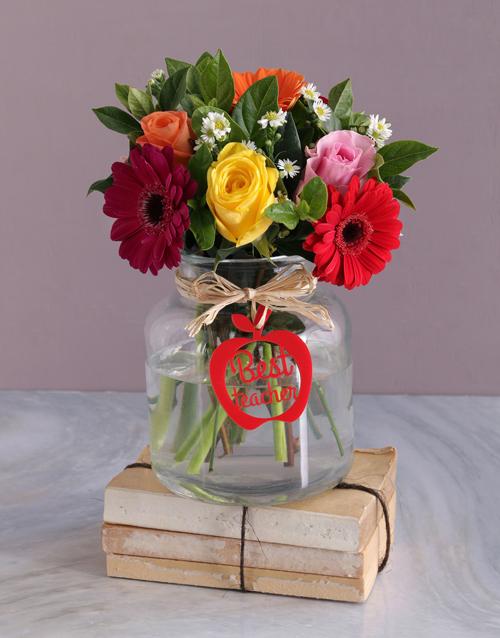 colour: Best Teacher Flower Vase!