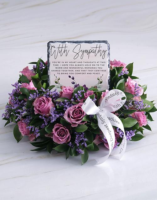 sympathy: Purity Sympathy Wreath!