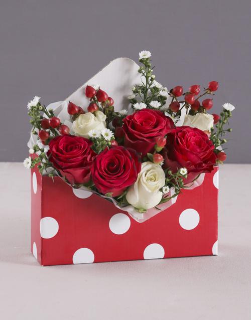 friendship: Red and White Rose Polka Dot!