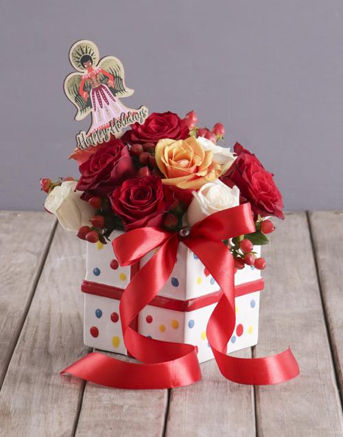 christmas: Angel Mixed Rose Box!