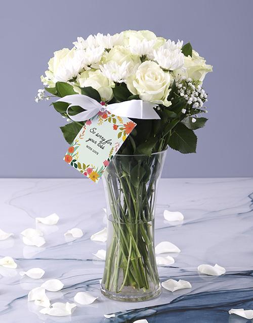 coloured-vases: White Vase Of Sympathy!