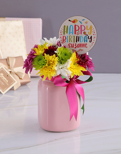 birthday: Personalised Happy Birthday Spray Jar!