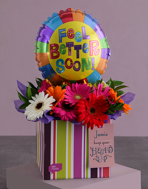 colour: Personalised Feel Better Arrangement In A Box!