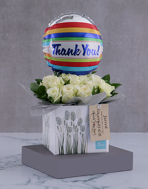 colour: Personalised Thank You Arrangement In A Box!