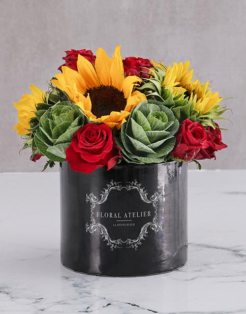 anniversary: Le Petit Fleur Sunflower Arrangement!