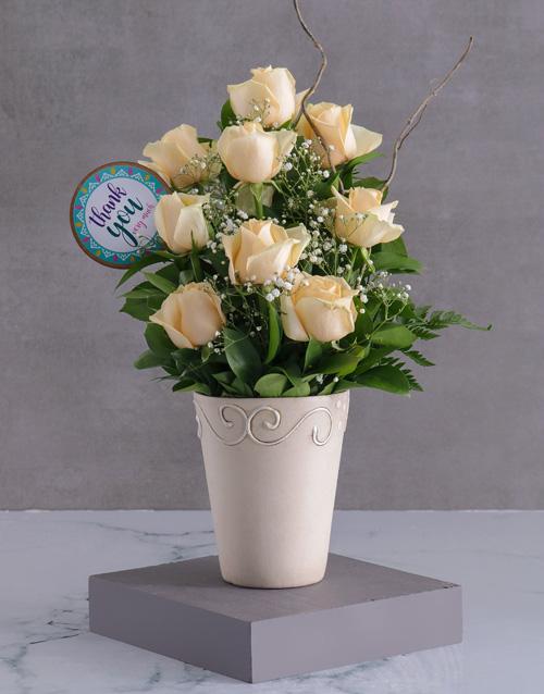 anniversary: Cream Roses Of Gratitude!