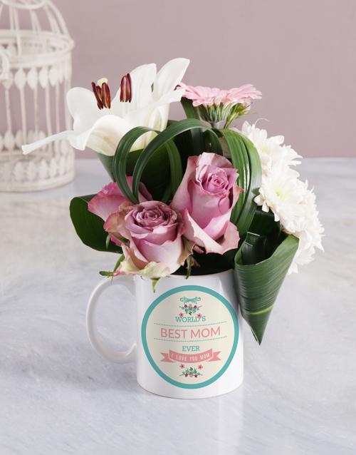 flowers: Best Mom Ever Flower Mug!