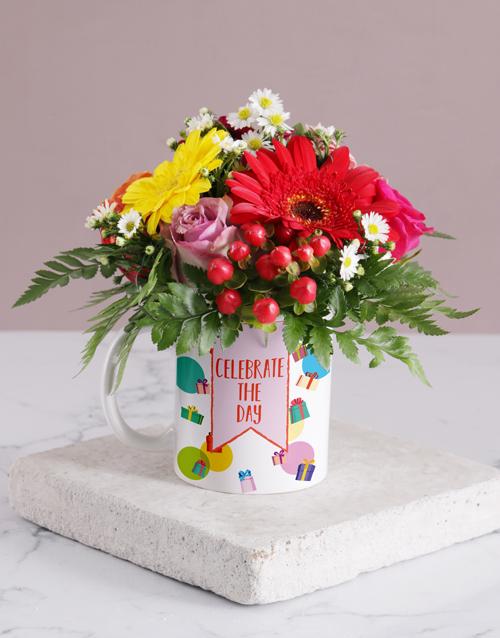 colour: Celebration Flower Mug!