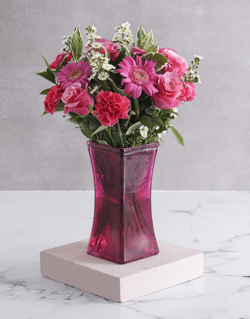 colour: Blossoms in Lady Pink Vase!