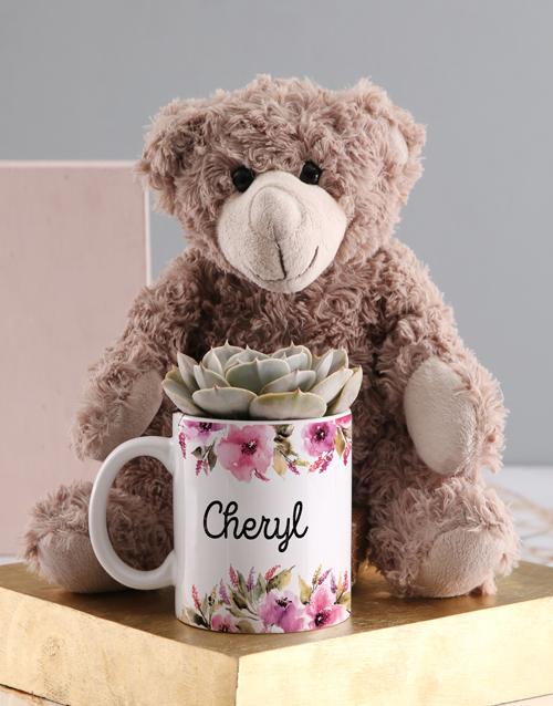 baby: Personalised Succulent Teddy Mug!