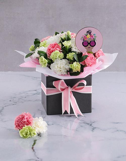 birthday: Striking Pink Carnation Arrangement!