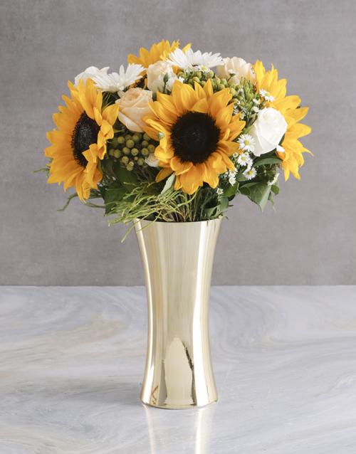 get-well: White Sunflower Arrangement!