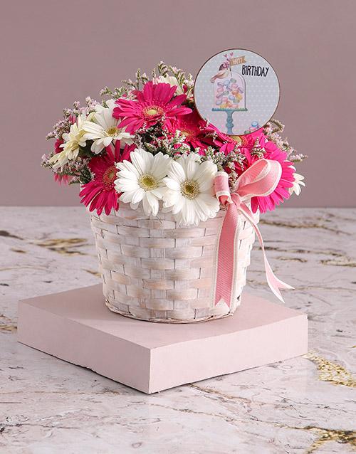 birthday: Basket of Birthday Gerberas!