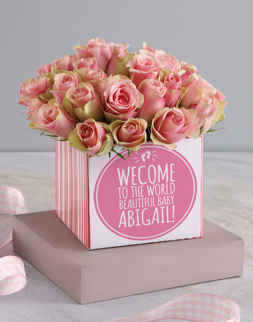 baby: Welcome To The World Roses In Occasions Box!