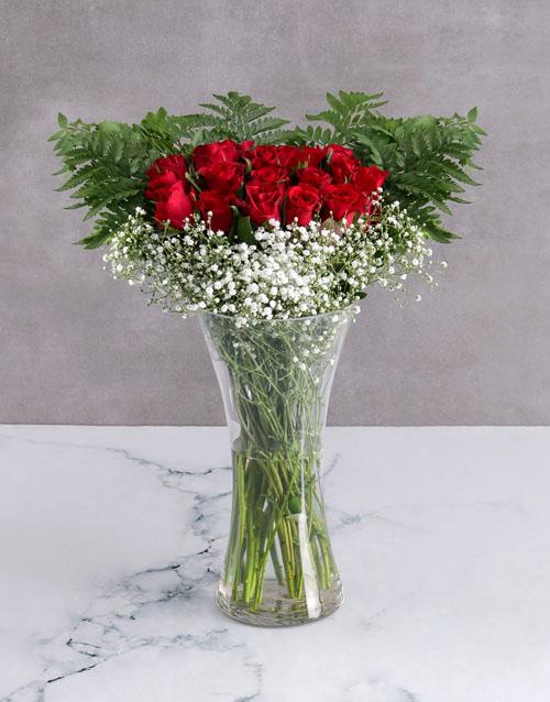 anniversary: Starry Red Rose Arrangement!