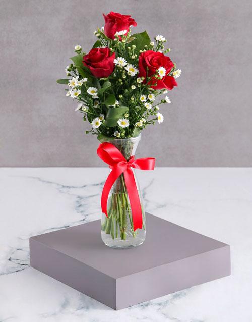 birthday: Satin Red Rose Arrangement!