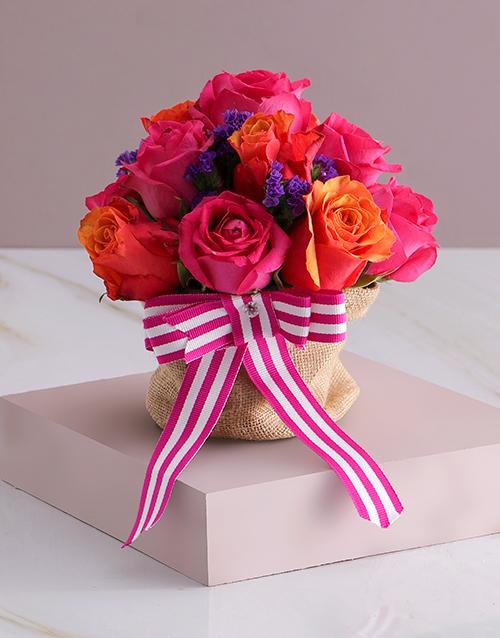 birthday: Garden Rose Arrangement!
