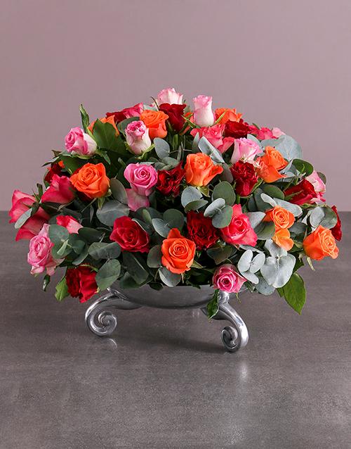 bosses-day: Flourishing Rose Arrangement!