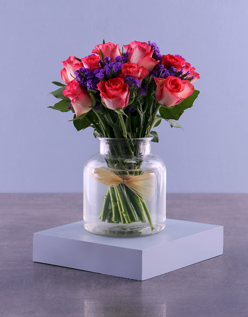 anniversary: Have A Cerise Day Roses In Vase!