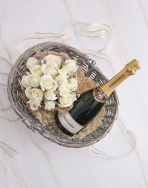 anniversary: Basket Of Roses And Pongracz!
