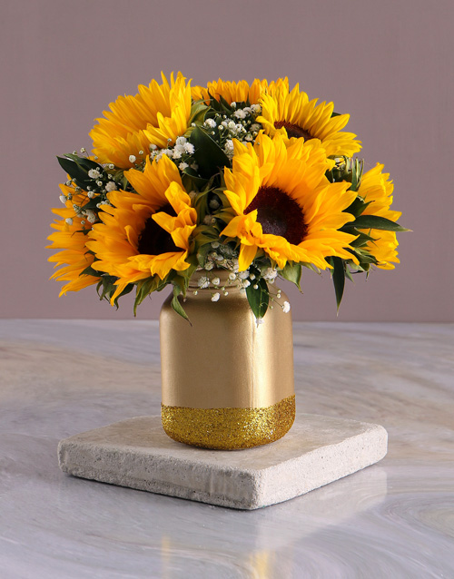 christmas: Have A Sunny Day Sunflowers In A Jar Gift!